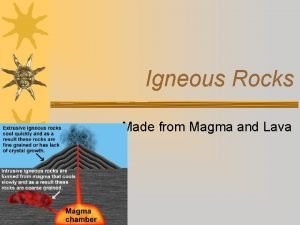 Igneous Rocks Made from Magma and Lava Igneous