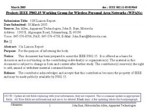 March 2005 doc IEEE 802 11 050190 r