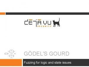 GDELS GOURD Fuzzing for logic and state issues