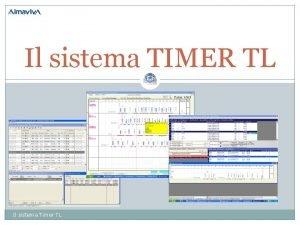 Il sistema TIMER TL Il sistema Timer TL