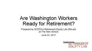 Are Washington Workers Ready for Retirement Prepared by