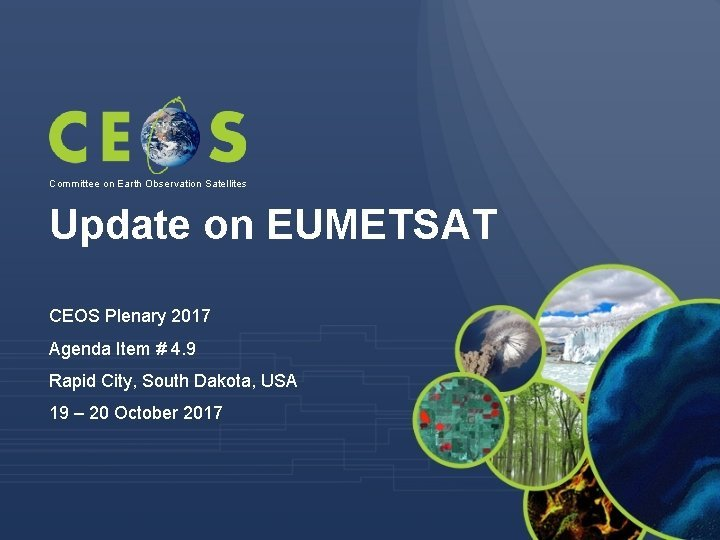 Committee on Earth Observation Satellites Update on EUMETSAT