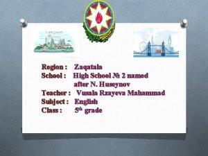 Region Zaqatala School High School 2 named after