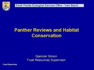 South Florida Ecological Services Office Vero Beach Panther