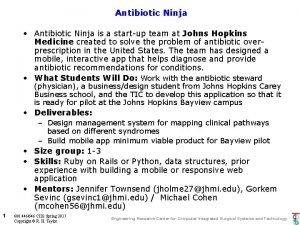 Antibiotic Ninja Antibiotic Ninja is a startup team