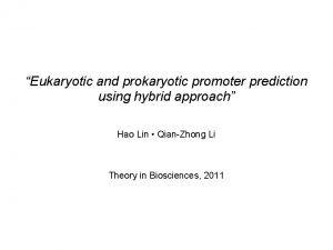 Eukaryotic and prokaryotic promoter prediction using hybrid approach