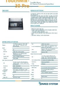 Touch Mix 30 Pro Touch Mixers 32 Channel