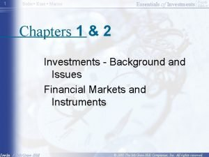 1 Bodie Kane Marcus Essentials of Investments Fourth