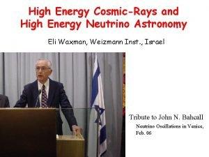 High Energy CosmicRays and High Energy Neutrino Astronomy
