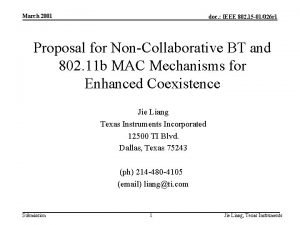 March 2001 doc IEEE 802 15 01026 r