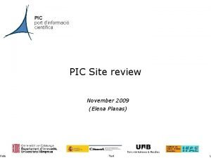 Date PIC port dinformaci cientfica PIC Site review