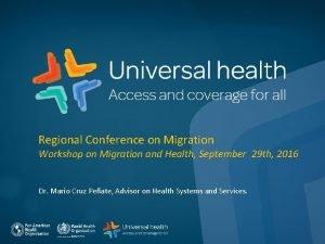 Regional Conference on Migration Workshop on Migration and