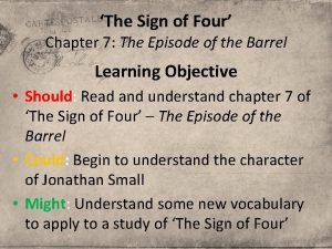 The Sign of Four Chapter 7 The Episode