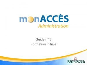 Guide n 3 Formation initiale Mon ACCScole Ce