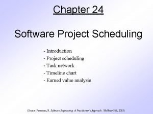 Chapter 24 Software Project Scheduling Introduction Project scheduling