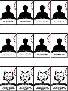 Burger Burger Geen bijzonderheden Geen bijzonderheden Weerwolf Weerwolven