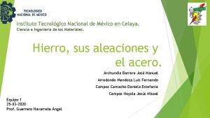Instituto Tecnolgico Nacional de Mxico en Celaya Ciencia