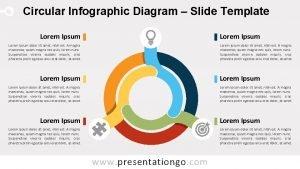 Circular Infographic Diagram Slide Template Lorem Ipsum Lorem