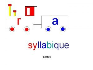 r a syllabique instit 90 Mode demploi 1
