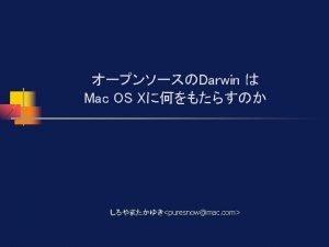 Darwin n Darwin n OS X n Finder
