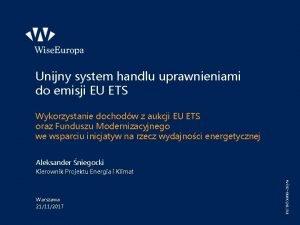 Unijny system handlu uprawnieniami do emisji EU ETS