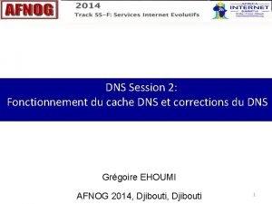 DNS Session 2 Fonctionnement du cache DNS et