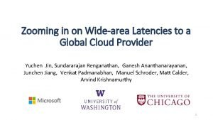 Zooming in on Widearea Latencies to a Global