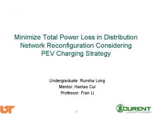 Minimize Total Power Loss in Distribution Network Reconfiguration