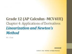 Grade 12 AP Calculus MCV 4 UE Chapter