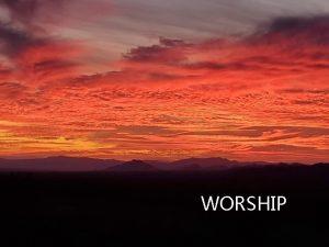 WORSHIP WELCOME TO WORSHIP Rev Kolby Thomas Pastor