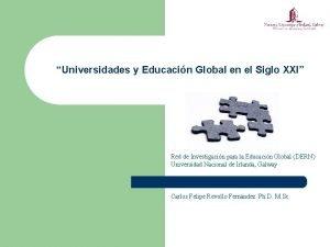 Universidades y Educacin Global en el Siglo XXI