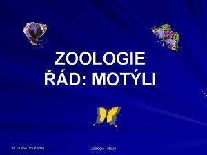 ZOOLOGIE D MOTLI SOU a SOS Kada Zoologie