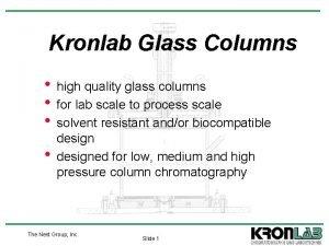 Kronlab Glass Columns high quality glass columns for