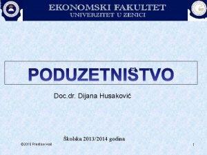 Doc dr Dijana Husakovi kolska 20132014 godina 2010