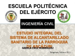 ESCUELA POLITCNICA DEL EJRCITO INGENIERA CIVIL ESTUDIO INTEGRAL