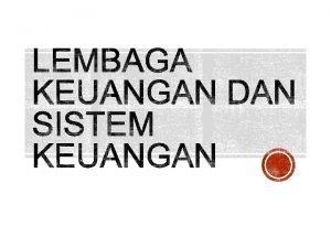 Surplus Lembaga Keuangan Defisit Suatu lembaga yang dalam