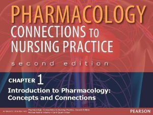 PHARMACOLOGY CONNECTIONS TO NURSING PRACTICE Second Edition CHAPTER