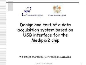Sezione di Cagliari Universit di Cagliari Design and