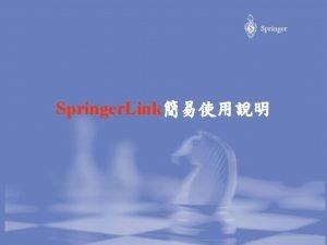 Springer Link Springer Link http www springerlink com