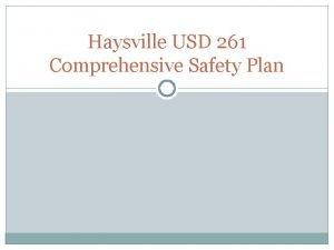 Haysville USD 261 Comprehensive Safety Plan Haysville USD