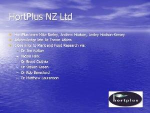 Hort Plus NZ Ltd Hort Plus team Mike
