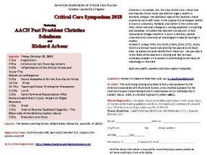 American Association of Critical Care Nurses Greater Louisville