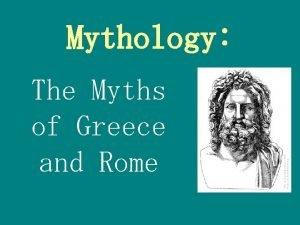 Mythology The Myths of Greece and Rome Mythology