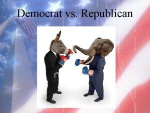 Democrat vs Republican Symbol Democrat Donkey This symbol