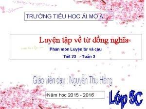 TRNG TIU HC I M A Luyn tp