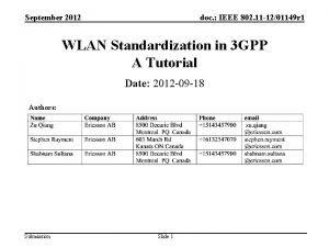 September 2012 doc IEEE 802 11 1201149 r