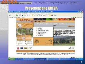 ARTA Organismo pagatore Agenzia Regionale Toscana per le