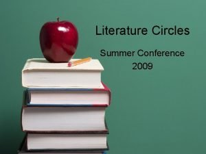 Literature Circles Summer Conference 2009 Literature Circles Student
