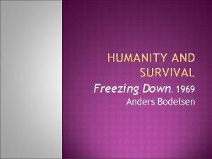 Freezing Down 1969 Anders Bodelsen Born 1937 Prolific