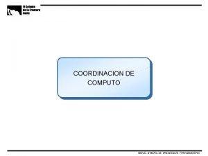 COORDINACION DE COMPUTO MANUAL INTEGRAL DE ORGANIZACION Y